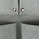 Range outils de jardin en coton gris 41x20cm-ARTIGUES