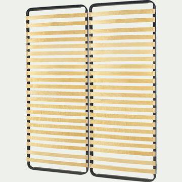 Sommier cadre à lattes Alinea 4 cm - 2x80x200 cm-Quali