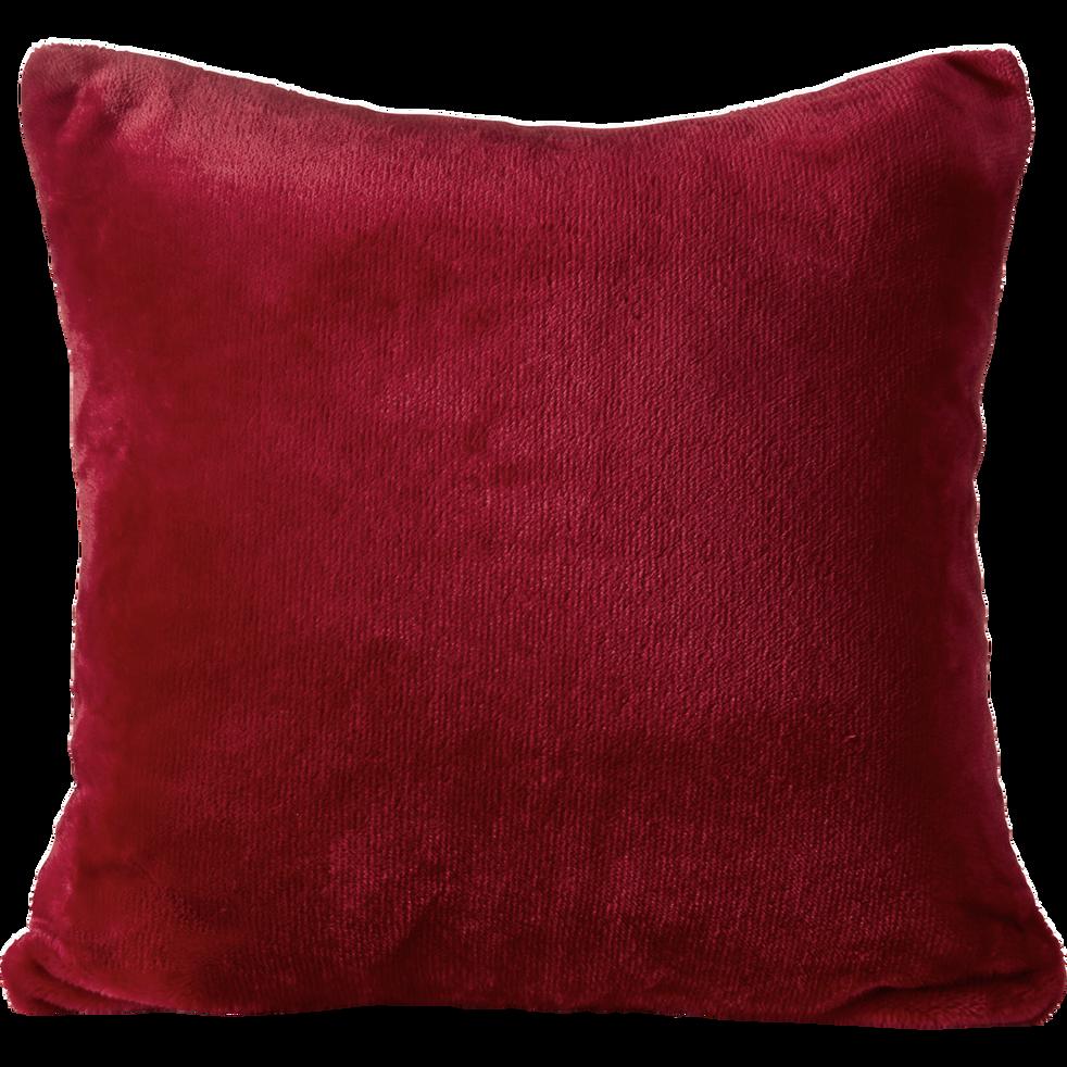 housse de coussin effet doux rouge sumac 65x65cm robin. Black Bedroom Furniture Sets. Home Design Ideas
