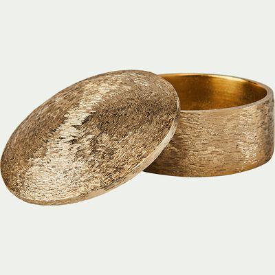 Boîte en métal doré D11cm-Maylila
