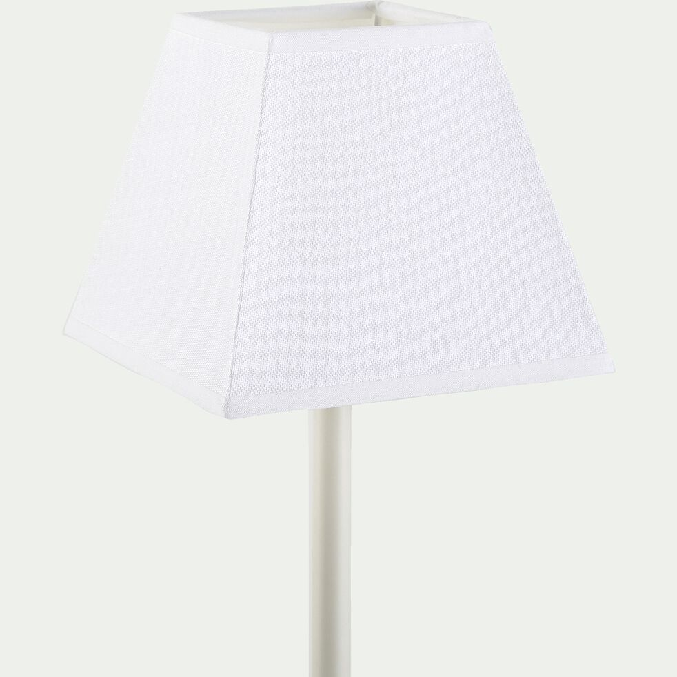 Abat jour carré - blanc capelan D16cm-MISTRAL