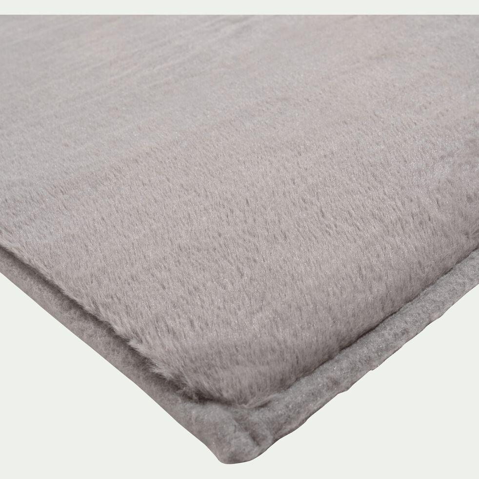 Tapis imitation fourrure - gris restanque 150x200cm-ROBIN