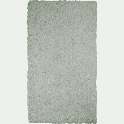 Descente de lit shaggy vert olivier 60x110cm-CELAN