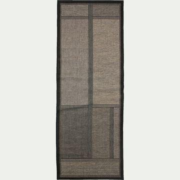 Tapis de couloir - gris foncé 80x230cm-CORREDOR