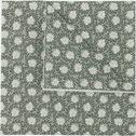 Lot de 20 serviettes en papier vert olivier à motif jasmin 33x33cm-SAZE