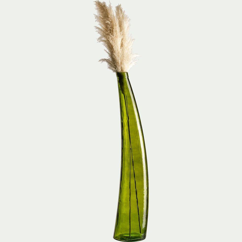 Grand vase art déco en verre - vert H100cm-BINONDO