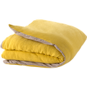 Edredon en lin et coton jaune 180x100cm-ELINA