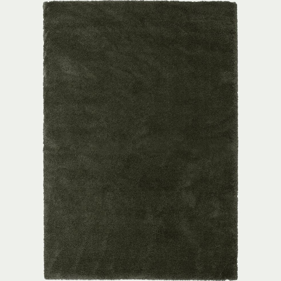 Tapis à poils longs - vert cèdre 200x290cm-KRIS
