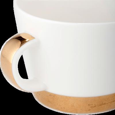Tasse en porcelaine blanc capelan 25cl-GLYCINE