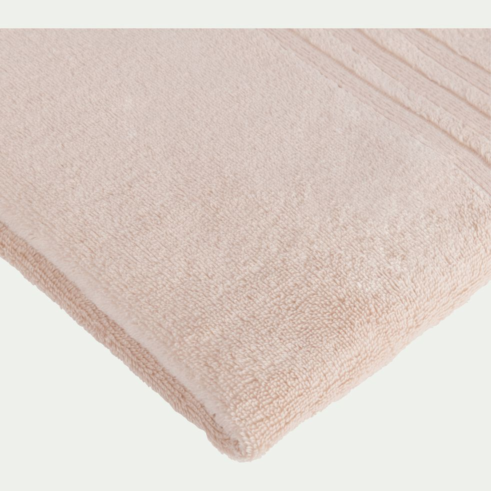 Serviette de bain bouclette en coton - rose grège 50x100cm-NOUN