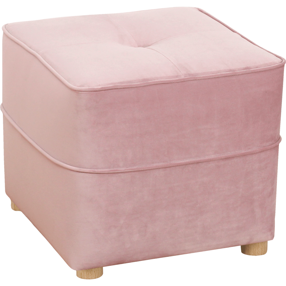 pouf en velours rose vicky poufs et repose pieds alinea. Black Bedroom Furniture Sets. Home Design Ideas