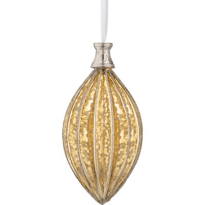 Décoration à suspendre en verre doré H10,50cm-RAFFAELE