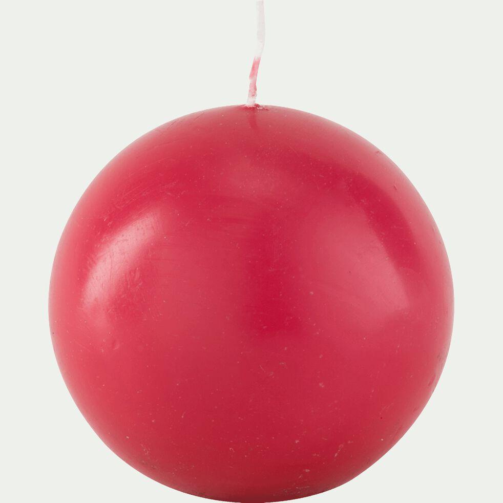 Bougie ronde rouge arbouse D10cm-HALBA