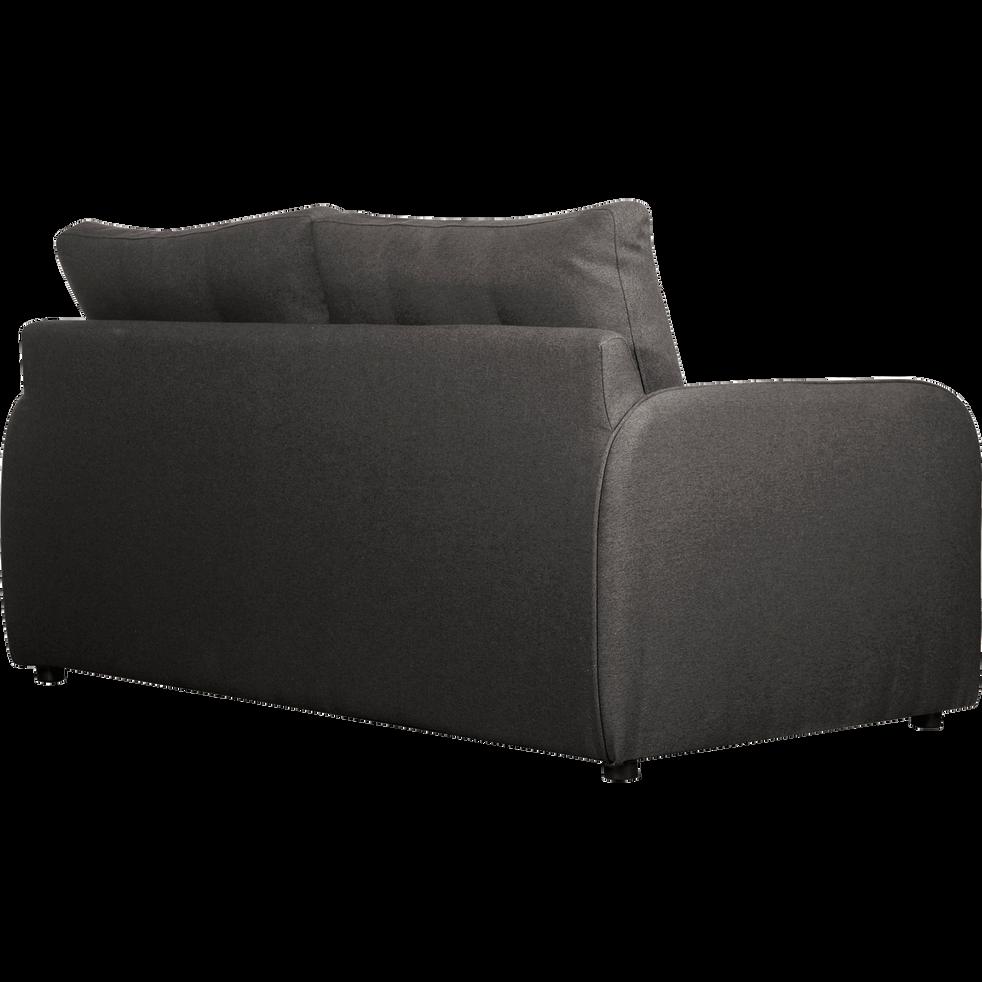 Canapé 3 places convertible déplimousse en tissu gris borie-VINYL