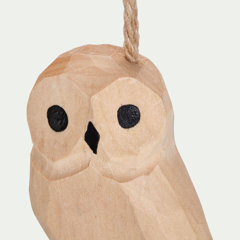 Suspension chouette 7,11X8,38X3,56cm en bois - naturel-ARRIGU
