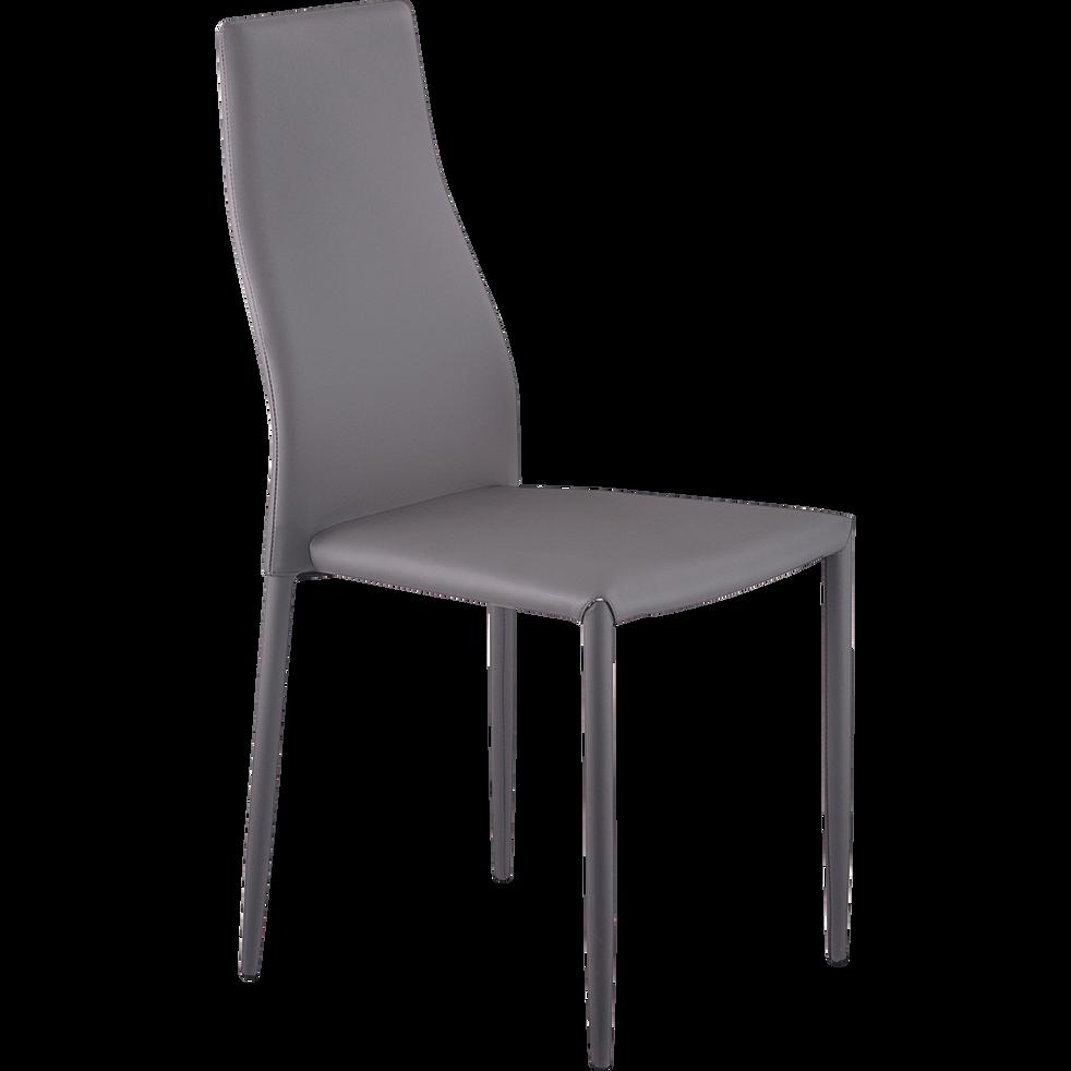 Chaise en simili grise-WALLACE