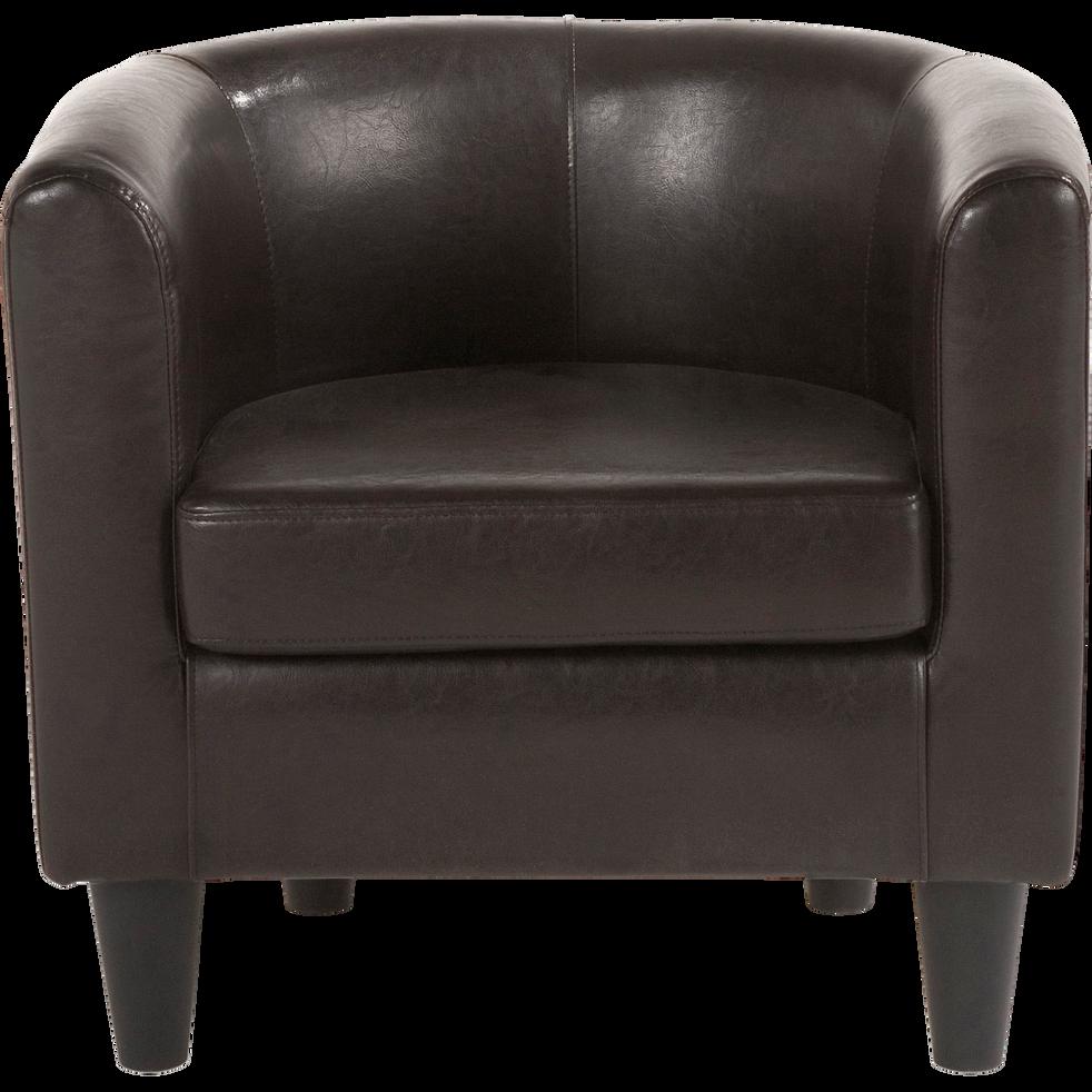 fauteuil club en tissu marron vieilli tod fauteuils et poufs alinea. Black Bedroom Furniture Sets. Home Design Ideas