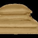 Drap housse en lin Beige nèfle 160x200cm bonnet 28cm-VENCE