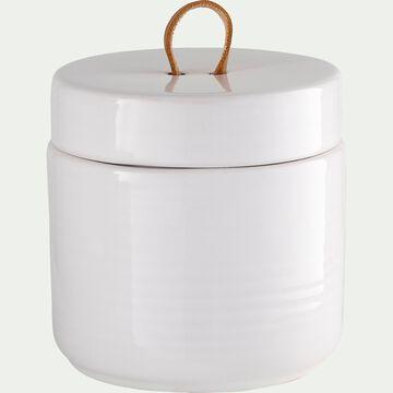 Boite en céramique - blanc D10,6xH10,7-SABRINA