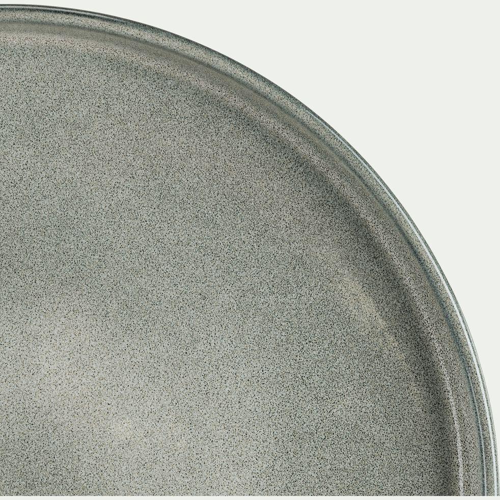 Assiette plate en grès émail réactif - gris borie D27cm-PIETRA