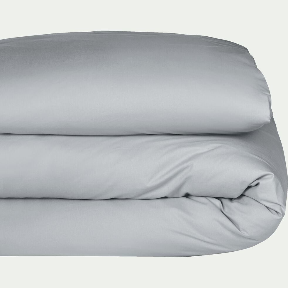 Housse de couette en coton - gris borie 140x200cm-CALANQUES