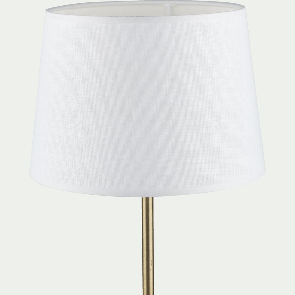 Abat-jour tambour blanc capelan D30cm-MISTRAL