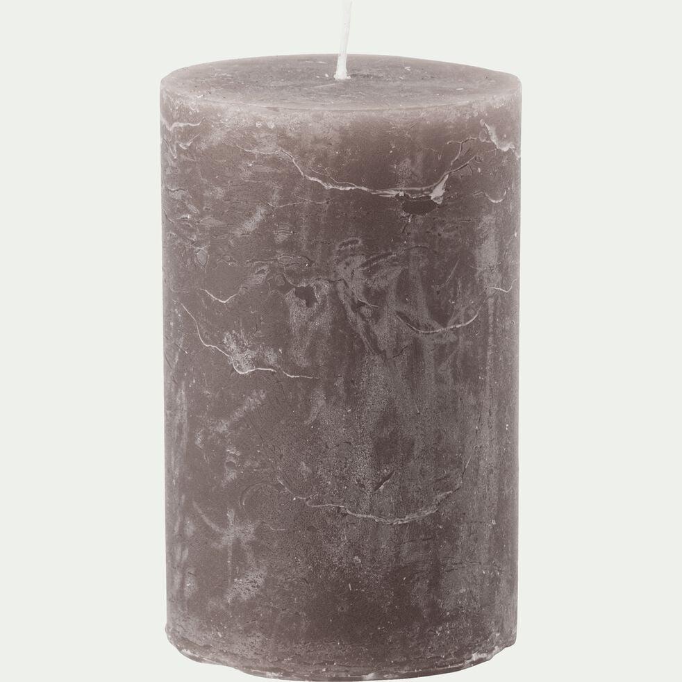 Bougie cylindrique - D7xH11 cm marron-BEJAIA
