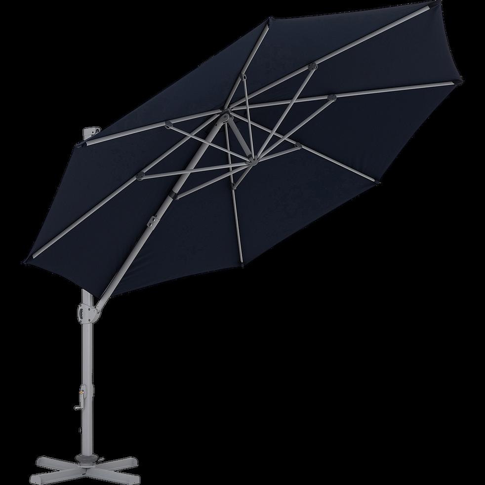 Roquevaire Parasol Déporté Bleu D35m