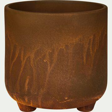 Cache-pot en céramique effet rouille D14,5xH14cm-Ouarzazate
