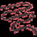 Guirlande lumineuse 11m - 500 LED rouge-CERISE