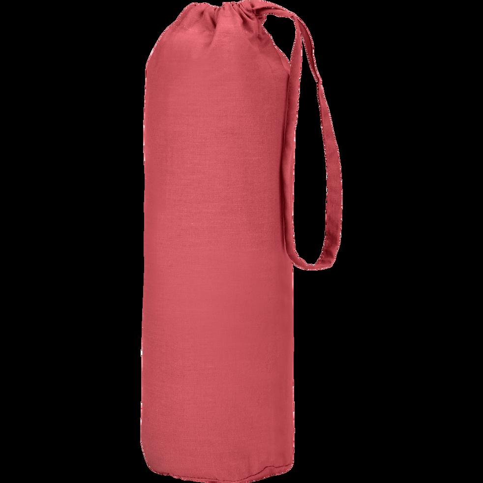 Drap housse en coton Rouge arbouse 140x200cm-bonnet 25cm-CALANQUES