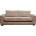 Canapé 3 places fixe en tissu argile-CALIFORNIA