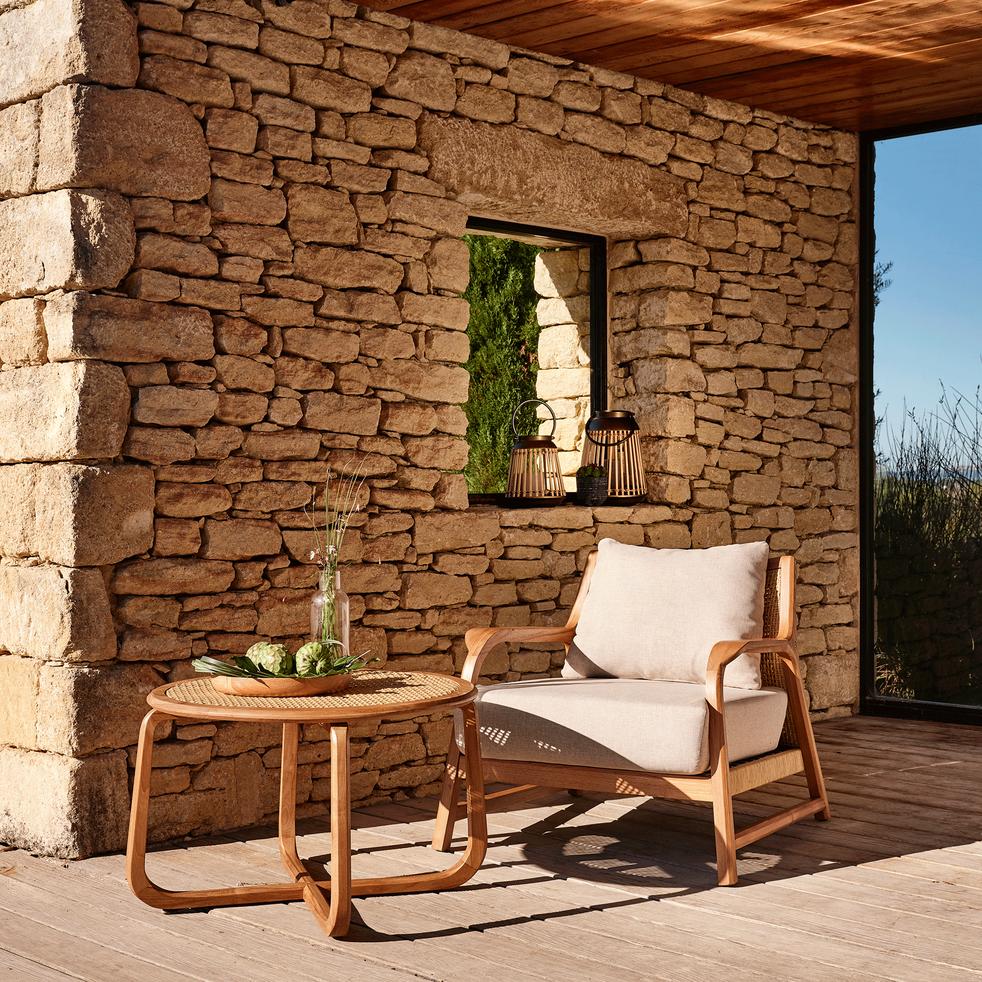 table basse de jardin en teck massif grimaud tables. Black Bedroom Furniture Sets. Home Design Ideas