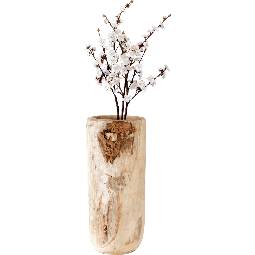 Cache-pot en paulownia H65xD30cm-PIA