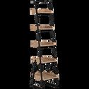 Etagère 5 tablettes plaquée frêne et métal noir L40cm-ESTANIER