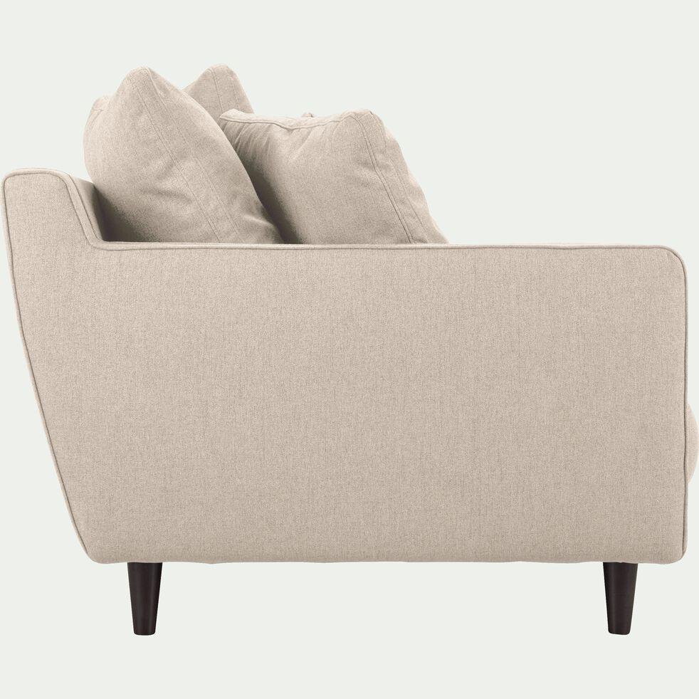 Canapé 5 places fixe en tissu - beige roucas-LENITA