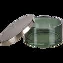 Boîte en verre verte h5.6cm-AGAVE