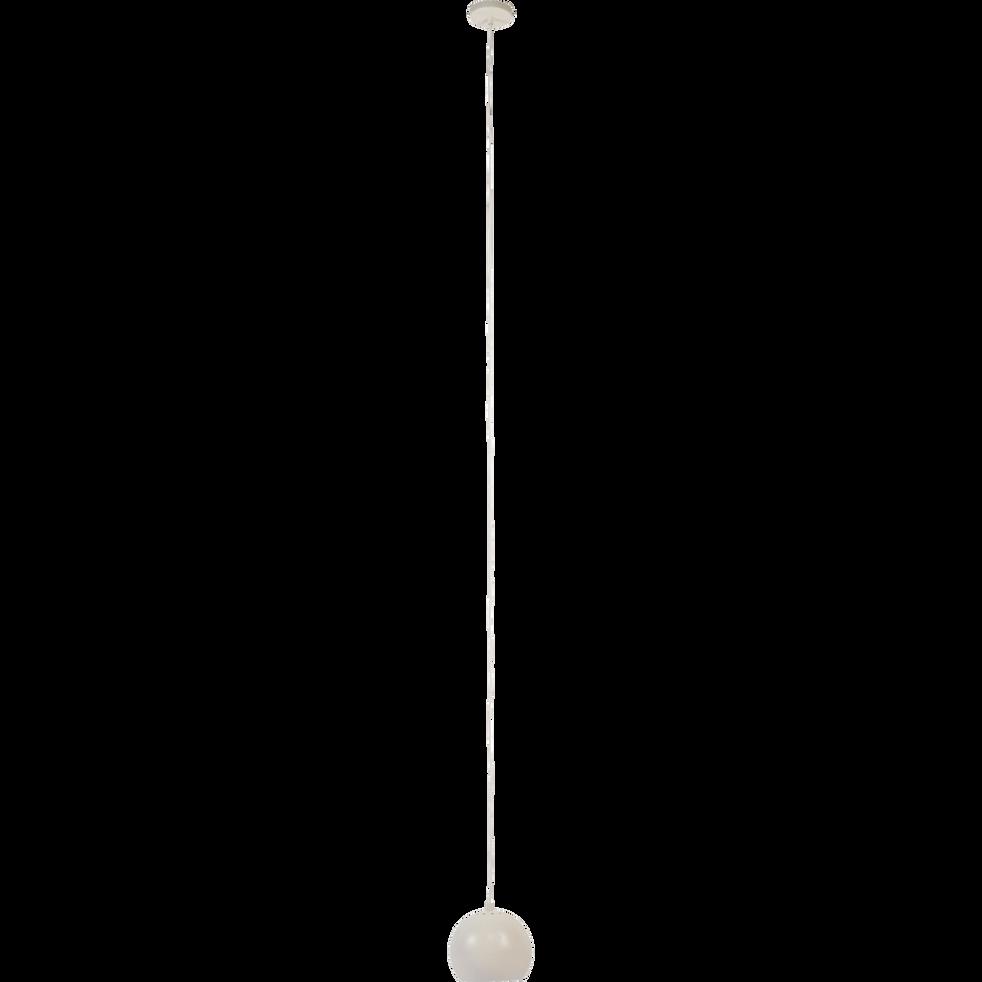 Suspension en métal blanc D18cm-BALL