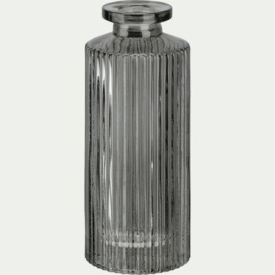 Vase en verre gris H13cm-Elasa