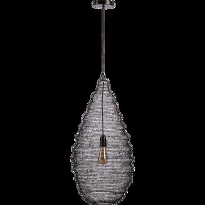 Suspension en  fer noir H78xD35cm-LOUP