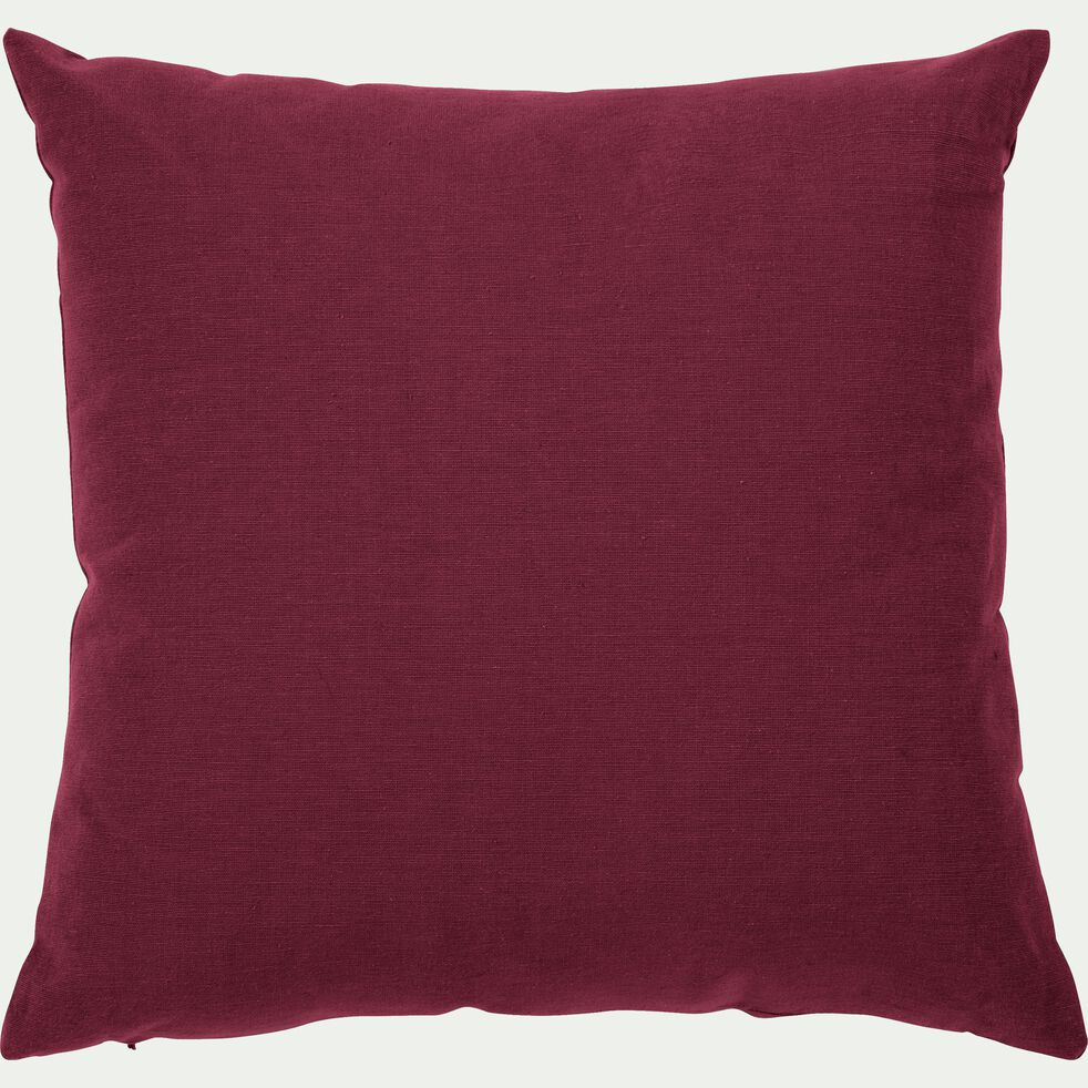 Coussin en coton - rouge sumac 40x40cm-CALANQUES