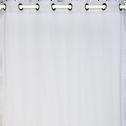 Voilage à oeillets gris borie 135x250cm-DUNE