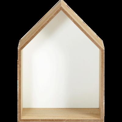 Étagère forme maison fond blanc-DOLCE