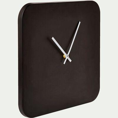 Horloge murale carrée en métal 33x33cm-SULLY