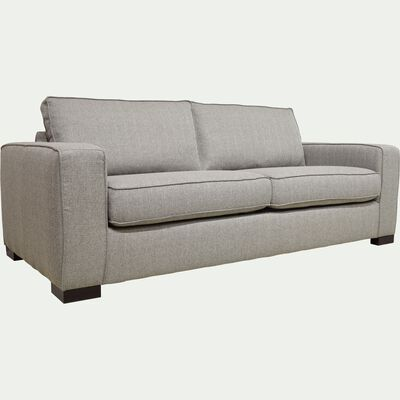 Canapé 3 places fixe pieds bas - gris-CALIFORNIA