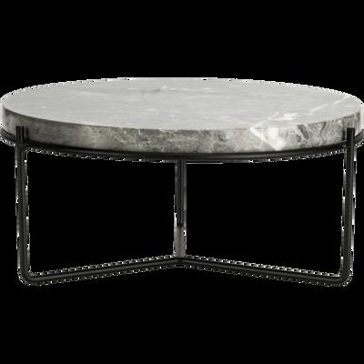 Plateau décoratif marbre gris D25,5 cm-OGLIO