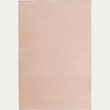 Tapis imitation fourrure - rose argile 100x150cm-ROBIN