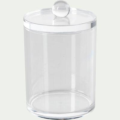 Pot à coton transparent-Ice