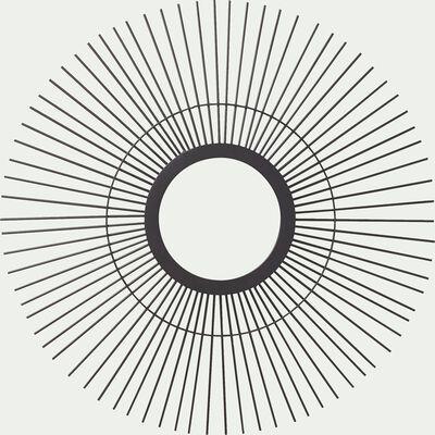Miroir rond en métal noir D59cm-SUN