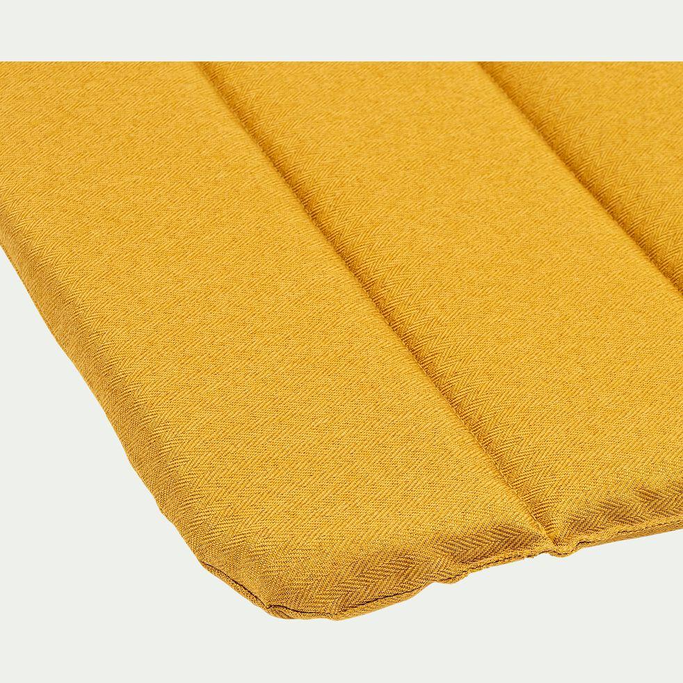 Galette de chaise indoor & outdoor en tissu déperlant - jaune argan-KIKO